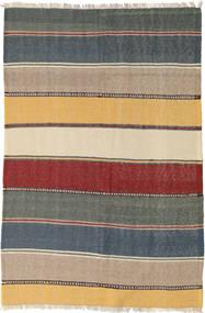 キリム 絨毯 120X182 オリエンタル 手織り 薄茶色/深緑色の (ウール, ペルシャ/イラン)