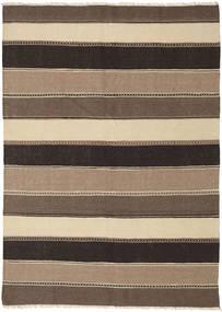 Kelim Tæppe 150X212 Ægte Orientalsk Håndvævet Lysebrun/Mørkegrå (Uld, Persien/Iran)