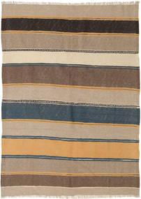 Kilim Tapete 138X192 Oriental Tecidos À Mão Castanho Claro/Cinza Escuro (Lã, Pérsia/Irão)