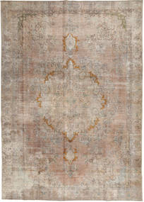 Colored Vintage Rug 274X388 Authentic  Modern Handknotted Light Brown/Light Grey Large (Wool, Pakistan)