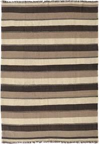 Kilim Rug 180X255 Authentic  Oriental Handwoven Dark Grey/Beige/Light Grey (Wool, Persia/Iran)