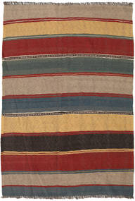 Kilim Rug 135X190 Authentic  Oriental Handwoven Light Brown/Dark Red (Wool, Persia/Iran)