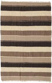 Kelim Teppe 127X197 Ekte Orientalsk Håndvevd Lysbrun/Brun/Svart (Ull, Persia/Iran)