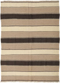 Kilim Rug 154X208 Authentic  Oriental Handwoven Light Brown/Dark Grey (Wool, Persia/Iran)