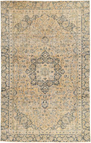 Colored Vintage Rug 198X318 Authentic  Modern Handknotted Beige/Dark Beige (Wool, Persia/Iran)