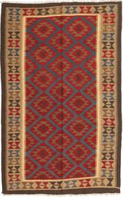 Kelim Maimane Teppe 152X242 Ekte Orientalsk Håndvevd Mørk Rød/Mørk Brun (Ull, Afghanistan)