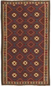 Kilim Maimane Dywan 151X253 Orientalny Tkany Ręcznie Ciemnobrązowy/Ciemnoczerwony (Wełna, Afganistan)