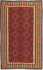 Kilim Maimane Szőnyeg 146X246 Keleti Kézi Szövésű Sötétbarna/Sötétpiros (Gyapjú, Afganisztán)