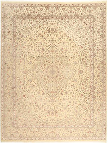 Tabriz Royal Rug 276X360 Authentic  Oriental Handknotted Beige/Light Brown/Dark Beige Large ( India)