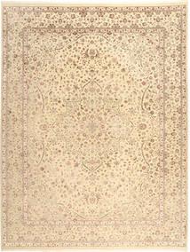 Täbriz Royal Teppich  276X360 Echter Orientalischer Handgeknüpfter Beige/Hellbraun/Dunkel Beige Großer ( Indien)