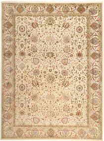 Tabriz Royal Rug 304X407 Authentic  Oriental Handknotted Light Brown/Dark Beige Large ( India)