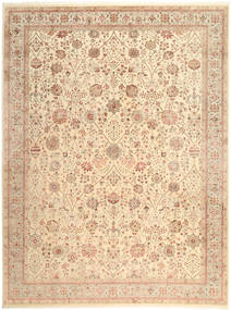 Tabriz Royal Rug 269X363 Authentic  Oriental Handknotted Beige/Light Brown Large ( India)