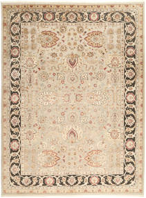 Tabriz Royal Tapis 277X368 D'orient Fait Main Marron Clair/Beige Grand ( Inde)