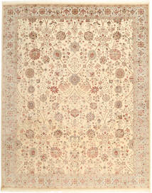 Tabriz Royal Rug 248X307 Authentic  Oriental Handknotted Light Pink/Light Brown/Dark Beige ( India)