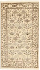 Tabriz Royal Matta 87X150 Äkta Orientalisk Handknuten Ljusbrun/Beige ( Indien)