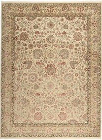 タブリーズ Royal 絨毯 267X362 オリエンタル 手織り 暗めのベージュ色の/薄茶色/ベージュ 大きな ( インド)