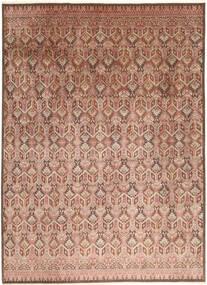 Tabriz Royal Tapete 271X363 Oriental Feito A Mão Luz Rosa/Castanho Claro Grande ( Índia)