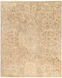 Tabriz Royal Rug 241X302 Authentic  Oriental Handknotted Dark Beige/Light Brown ( India)