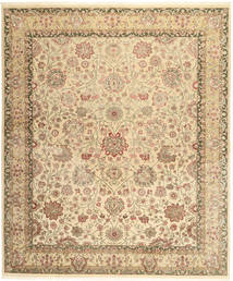 Tabriz Royal Rug 246X297 Authentic  Oriental Handknotted Light Brown/Dark Beige/Beige ( India)