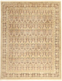 タブリーズ Royal 絨毯 242X311 オリエンタル 手織り 暗めのベージュ色の/薄茶色 ( インド)