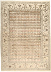 Tabriz Royal Rug 264X362 Authentic  Oriental Handknotted Light Brown/Beige Large ( India)