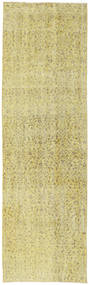 Colored Vintage Rug 81X265 Authentic  Modern Handknotted Hallway Runner  Yellow/Light Green (Wool, Turkey)