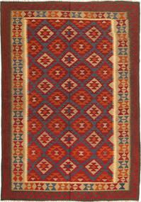 Kilim Maimane Rug 198X290 Authentic  Oriental Handwoven Dark Red/Light Brown (Wool, Afghanistan)
