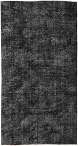 Colored Vintage Rug 140X265 Authentic  Modern Handknotted Black/Dark Grey (Wool, Turkey)