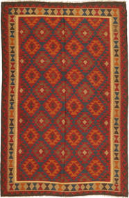 Kilim Maimane Rug 195X307 Authentic  Oriental Handwoven Dark Red/Dark Brown (Wool, Afghanistan)