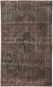 Colored Vintage Rug 188X315 Authentic  Modern Handknotted Dark Brown/Dark Grey (Wool, Turkey)