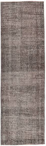 Colored Vintage Rug 81X262 Authentic  Modern Handknotted Hallway Runner  Light Grey/Dark Grey (Wool, Turkey)