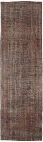 Colored Vintage Rug 81X271 Authentic  Modern Handknotted Hallway Runner  Dark Brown/Brown/Light Brown (Wool, Turkey)