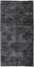 Colored Vintage Dywan 144X284 Nowoczesny Tkany Ręcznie Ciemnoszary/Czarny (Wełna, Turcja)