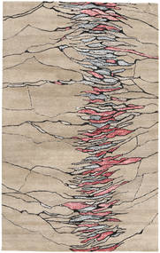 Jakart Kelim Matto 145X224 Moderni Vaaleanruskea/Tummanruskea (Villa/Bambu Silkki, Intia)