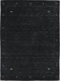 Loribaf Loom Zeta - Sort/Grå Tæppe 140X200 Moderne Sort (Uld, Indien)