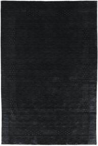 Loribaf Loom Beta - Fekete/Szürke Szőnyeg 190X290 Modern Sötétkék (Gyapjú, India)