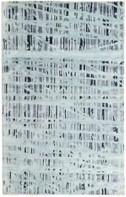 Handtufted 絨毯 154X245 モダン 水色/薄い灰色 (ウール/バンブーシルク, インド)