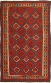 Kelim Maimane Tapijt 192X302 Echt Oosters Handgeweven Roestkleur/Donkerrood (Wol, Afghanistan)