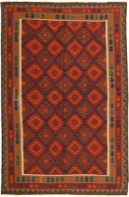 Kelim Maimane Teppe 193X291 Ekte Orientalsk Håndvevd Rust/Brun (Ull, Afghanistan)