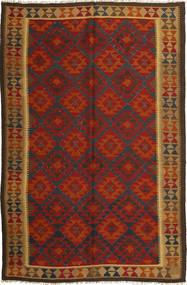 Kilim Maimane Dywan 197X296 Orientalny Tkany Ręcznie Rdzawy/Czerwony/Ciemnoszary (Wełna, Afganistan)
