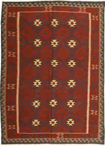 Kelim Maimane Teppe 208X287 Ekte Orientalsk Håndvevd Rust/Mørk Brun (Ull, Afghanistan)