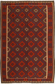 Kilim Maimane Rug 196X293 Authentic  Oriental Handwoven Dark Red/Dark Grey (Wool, Afghanistan)
