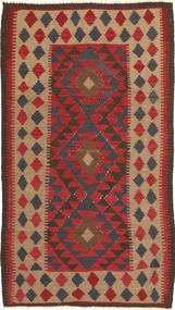 Kelim Maimane Matto 104X190 Itämainen Käsinkudottu Ruoste/Tummanruskea (Villa, Afganistan)
