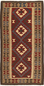 Kilim Maimane Dywan 101X196 Orientalny Tkany Ręcznie Ciemnoczerwony/Jasnobrązowy (Wełna, Afganistan)