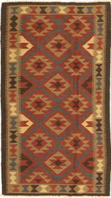 Kelim Maimane Matta 102X189 Äkta Orientalisk Handvävd Ljusbrun/Roströd (Ull, Afghanistan)