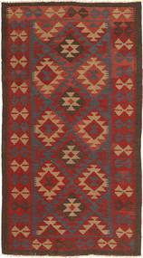 Kilim Maimane Dywan 106X193 Orientalny Tkany Ręcznie Ciemnoczerwony/Ciemnoszary (Wełna, Afganistan)