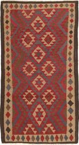 キリム マイマネ 絨毯 104X191 オリエンタル 手織り 深紅色の/濃い茶色 (ウール, アフガニスタン)