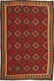 Kilim Maimane Rug 193X290 Authentic  Oriental Handwoven Rust Red/Dark Brown (Wool, Afghanistan)