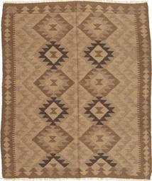 Kilim Rug 156X183 Authentic Oriental Handwoven Light Brown/Brown (Wool, Persia/Iran)