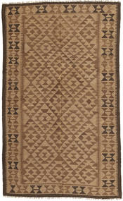 Kelim Tæppe 146X244 Ægte Orientalsk Håndvævet Brun/Lysebrun (Uld, Persien/Iran)